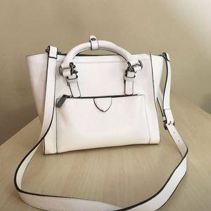 Zara white mini city bag